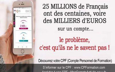 Vos droits à la formation avec le CPF, jusqu'à plus de 3000 €
