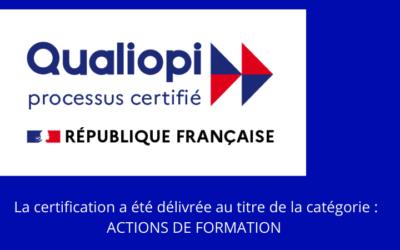 ACCOFORM a renouvelé avec succès sa certification Qualiopi jusqu'en décembre 2023